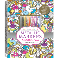 Kaleidoscope Colouring Kit: Metallic Markers and Glitter Pens